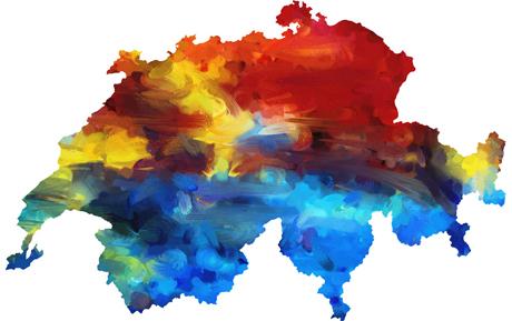 Karte Schweiz (bunt) Höhe, Fotolia.de